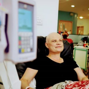 Receiving chemo treatment at the Royal Marsden, Chelsea hospital