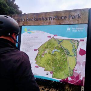 Cycling around London took us to Beckenham Place Park