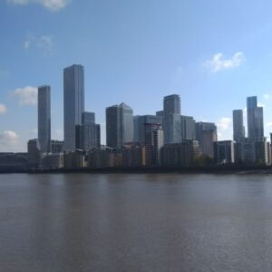 Cycling 100 km took me past this great view of the Canary Wharf