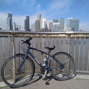 Riding a bicycle can be benefitial for mental health